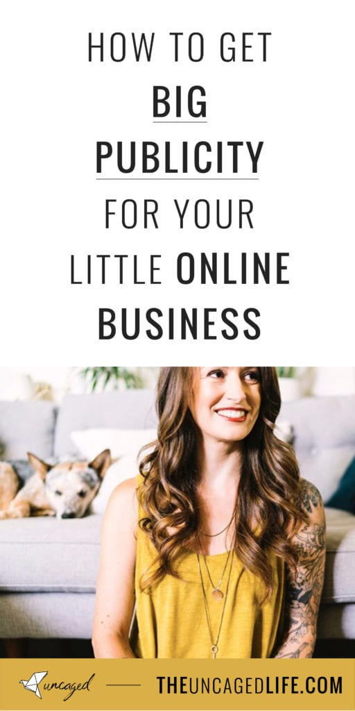 how to get big publicity for your little online business