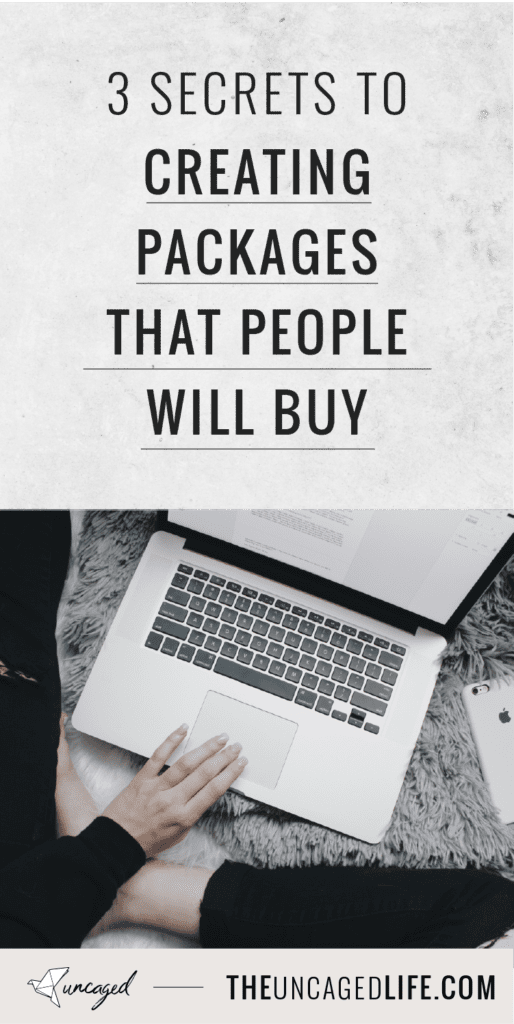3 secrets to creating packages that people will buy